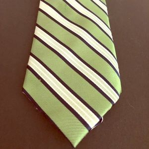 Nautica Green and Blue Striped Tie